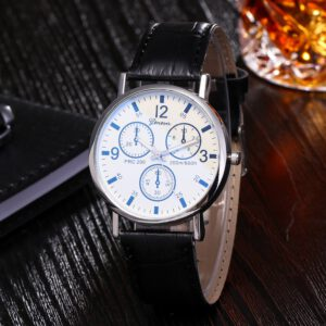2020 Men Quartz Watch Relogio Masculino Blu Ray Glass Watch Neutral Quartz Simulates The Wrist Watch Wristwatch reloj hombre#Q