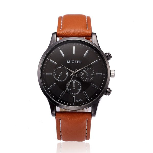Retro Design Men Watch Black Stainless Steel Leather Strap Analog Quartz Watch Casual Mens Business Watches Clock Gift 2020