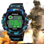 Luxury Men Digital Watch Camouflage Military Army Sport LED Waterproof Wrist Watch Clock Gift For Men reloj deportivo hombre
