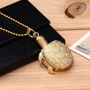 Fashion Turtle Shape Unisex Quartz Pocket Watch Jewelry Alloy Chain Pendant Necklace Man Women's watch Gift relogio masculino f3