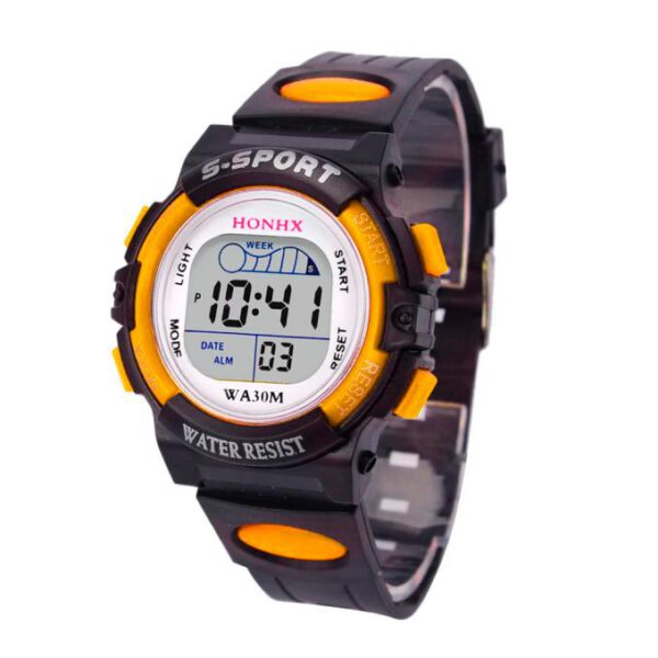 New Men Waterproof Children Watch Women LED Digital Sports Watches Plastic Kids Alarm Date Casual Watch Select Gift for boy