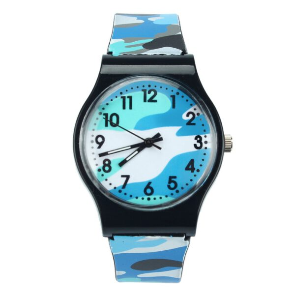 New Silicone Camouflage Children Watch Quartz Wristwatch For Girls Boy Student Watch birthday gifts kids Clock relogio infantil