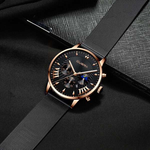 Luxury Man's Watches Stainless Steel Magnetic Net With Calendar Simple Man Watch Relogio Masculino Bayan Kol Saati Clock