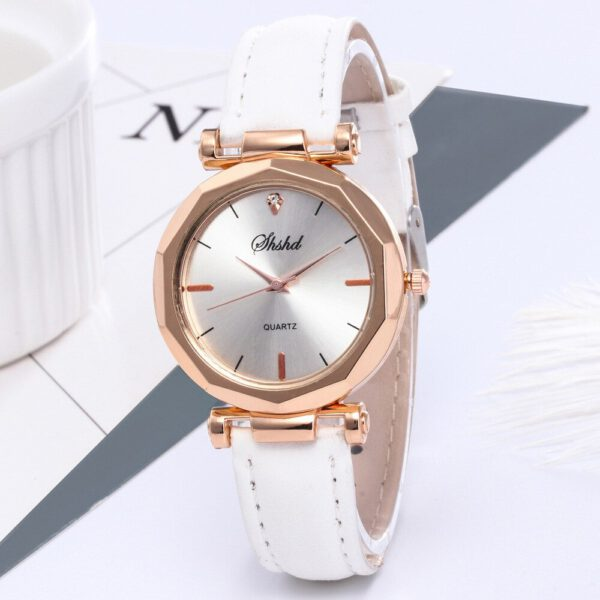 Fashion Women Leather Casual Watch Luxury Analog Quartz Crystal Wristwatch Fashion Casual Female Wristwatch Luxury 2020 Dress#A