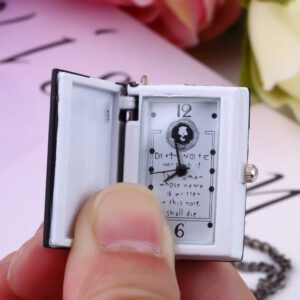 HOT 1pc Worldiwde Vintage Unique Death Note Book Quartz Pocket Watch Pendant Necklace Gift Popular Relogio De Bolso For Gift