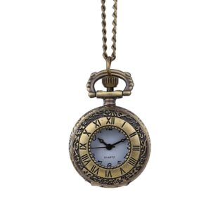 Men and women couple pocket watch window grille retro pocket watch retro quartz hanging table commemorative table relogio 50*