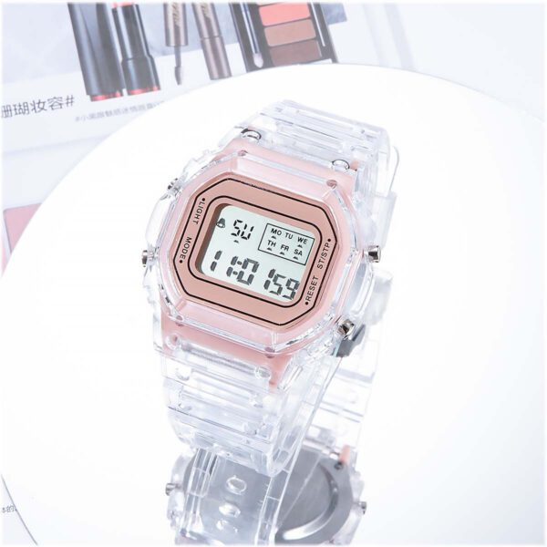 INS Fashion Men Women Watches Casual Transparent Digital Sport Watch Ladies Electronic Watches Kid's Wristwatch Reloj Mujer