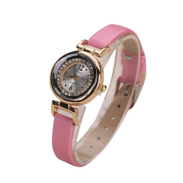 Women Fine Leather Band Diamond Analog Quartz Movement Wrist Watch Quartz Analog Waterproof Ladies Dress Wrist Watch relogio #10