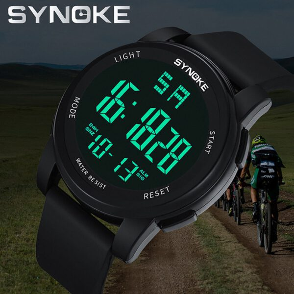 SYNOKE Electronic Watch Men's Sports Luminous Multi Function LED Digital 3Bar Waterproof наручные часы Dual Movement Wristwatch
