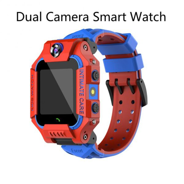 Children Positioning Reversible Dual Camera Smart Watch SOS Anti-lost Call Camera Voice Chat SIM Card 2G Child Gift Red Purple