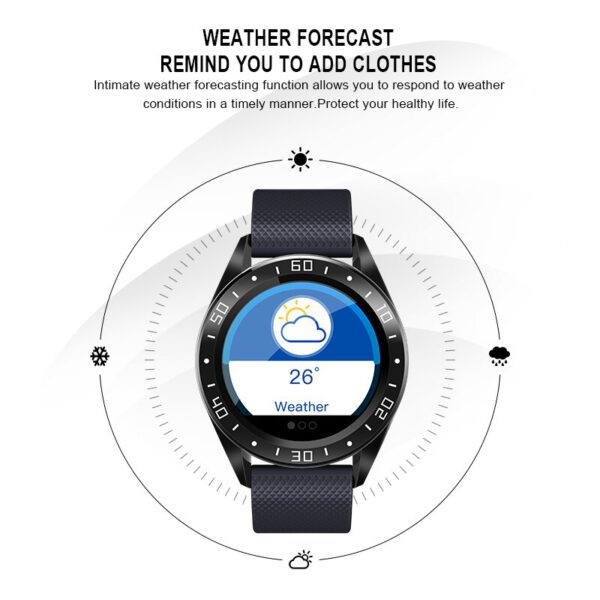 1.22inch Smart Watch GT105 Smartwatch Men Women Heart Rate Blood Pressure Monitor With Weather Push Music Control Call Xmas Gift