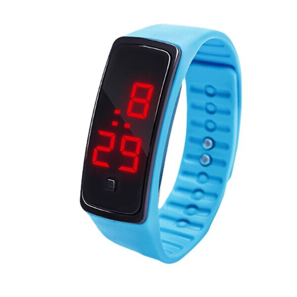 LED Digital Display Bracelet Watch Children's Students Silica Gel Sports Watch Candy Color Silicone Wrist Watch for Children Q