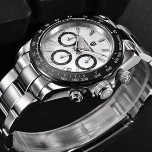 PAGANI DESIGNFashion Men Quartz Watch Luxury Sports Watch Men Stainless Steel 100M Waterproof Chronograph relogio masculino