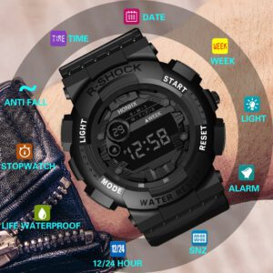 Luxury Mens Digital LED Watch Sport Outdoor Electronic Date Watches Waterproof Wrist Watch 2020 relogio masculino @C29