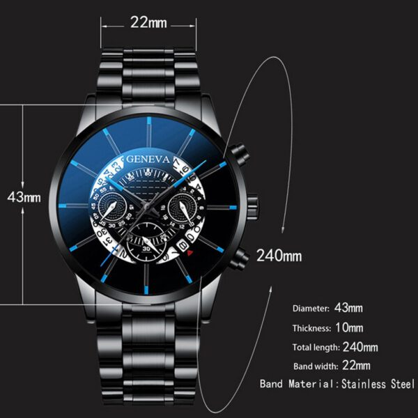 Watch Fashion Cool Unique Digital Literal Multi Layer Dial Men Quartz Quartz Clock Casual Mesh Waterproof Sport Belt Wrist Watch