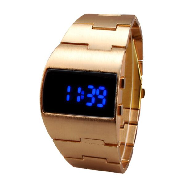 Men Women Gift Electronic Portable Business LED Display Bracelet Fitness Cool Adjustable Outdoor Digital Watch Casual Iron Man