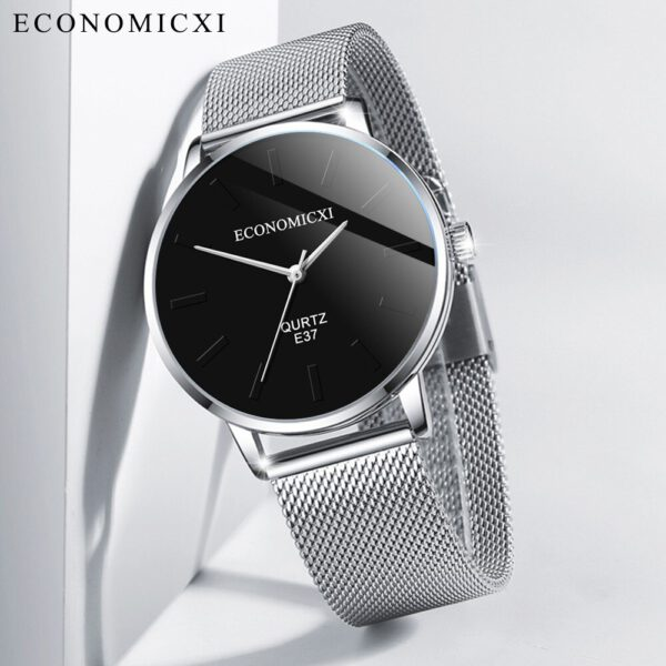 Men Watches Fashion Business Watch Stainless Steel Mesh Strap Wild Men's Quartz Watch Casual Wrist Watches Clock reloj hombre