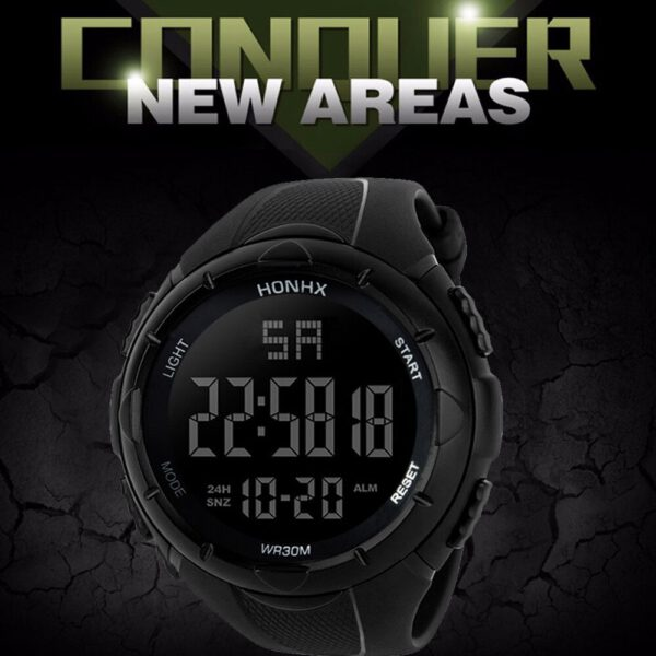 Luxury Sports Watch Men Analog Digital Military Silicone Army Sport LED Horloges Wrist Watches Men Relogio Masculino For Gifts