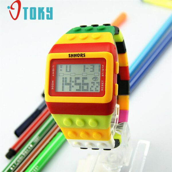OYOKY LED Digital Wrist Watch for Children Boys Girls Unisex Colorful Electronic Sports Watch 2020 Dropshipping