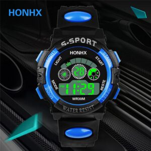 2019 Luxury Men Analog Digital Military Sport LED Waterproof Luminous Wrist Watch 097AS