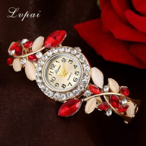 Women Luxury Dress Watches Wristwatch Fashion Flower Butterfly Ladies Bracelet Female Round Clock Quartz Watch Женские часы