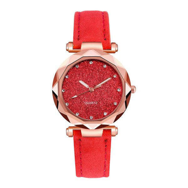 Casual Women Romantic Starry Sky Wrist Watch Leather Rhinestone Designer Ladies Clock Simple Dress Gfit reloj mujer montre femme
