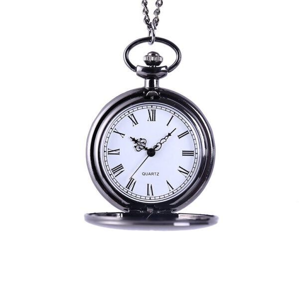 Personality Fashion Retro Large Pocket Watch Crown Lettering Quartz Pocket Watch Relogio Masculino Reloj Hombre Bayan Kol Saati