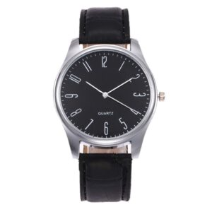 Mens Simple Business Fashion Leather Quartz Wrist Watch