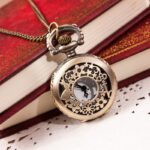 Retro 2019 Hot Fashion Vintage Retro Bronze Quartz Pocket Watch Pendant Chain Necklace Christmas Gift Fast Dropship