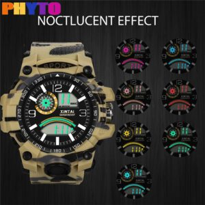 2019 Fashion High-End Multi-Function 30M Sport Waterproof Electronic Watch Camouflage Men's Outdoor Sport Women's Watch Clock