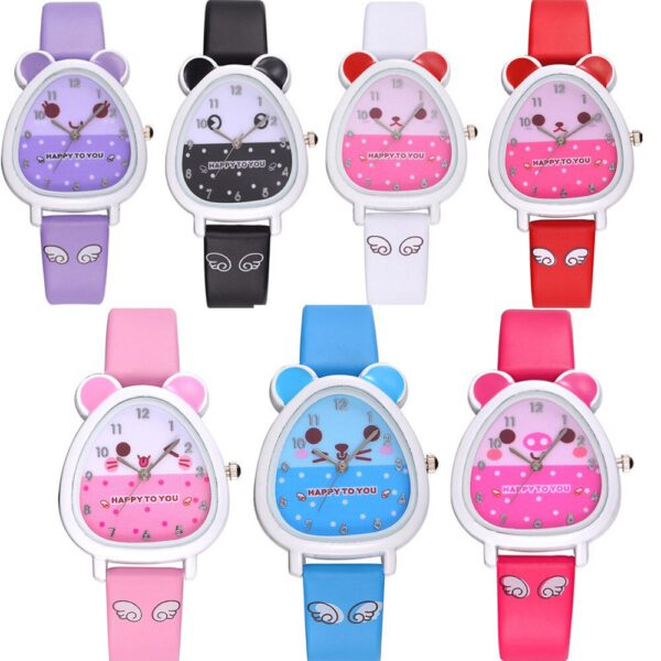 Lovely Animal Design Boy Girl Children Quartz Watch Kid's Birthday Gift