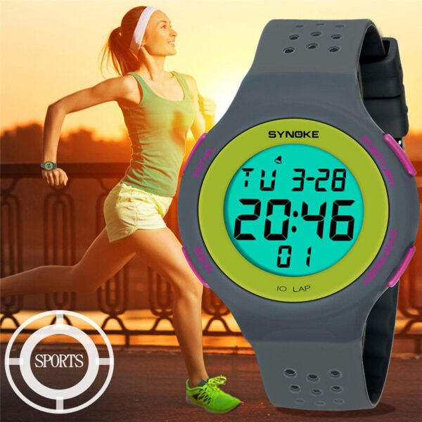 SYNOKE Multi-Function men sports watches 50M Waterproof Watch LED Digital Double Action Electronic Watch Masculino