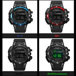 ISHOWTIENDA Watch Men Luxury Fashion Mens Waterproof LED Digital Date Military Sport Rubber Quartz Watch Alarm Fashion 2019