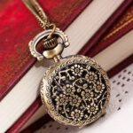2019 Hot Fashion Woman Vintage Retro Bronze Quartz Pocket Watch Pendant Chain Necklace Drop Shopping Reloj de bolsillo Wd3se