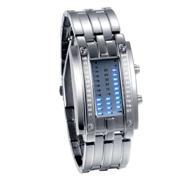 Lancardo 2020 Luxury Binary System LED Display Watches For Men and Woman Wrist Watch Clock Hours Couple Watch relogio masculino