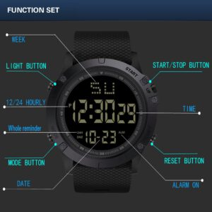 Fashion Men LED Digital Date Military Sport Rubber Quartz Watch Alarm Waterproof Sports Watch relogio masculino curren watch men