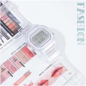 INS Transparent Fashion Casual Digital Sport Watch Men Women Watches Ladies Electronic Watches Kid's Wristwatch Reloj Mujer