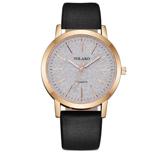 YOLAKO Fashion Elegant Women Luxurious Bracelet Women's Casual Quartz Leather Band Starry Sky Watch Analog Wrist Watch #C