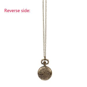 Necklace Pendant Clock Cool Souvenir Gift Vintage Steampunk Retro Bronze Design Pocket Watch Quartz Pendant Necklace Gift