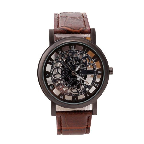 Casual Sport Watches Men Luxury Stainless Steel Quartz Military Leather Sport Leather Band Business Men Dial Wrist Watch Fashion