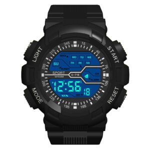 Multi Function Mens Digital Watches Waterproof Fashion Seven Colors Luminous Electronic Sports Watch Casual Mens LED Watches