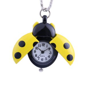 Europe and the United States hot sale soaring pocket watch jewelry creative small seven-star ladybug pocket watch nurse watch50*