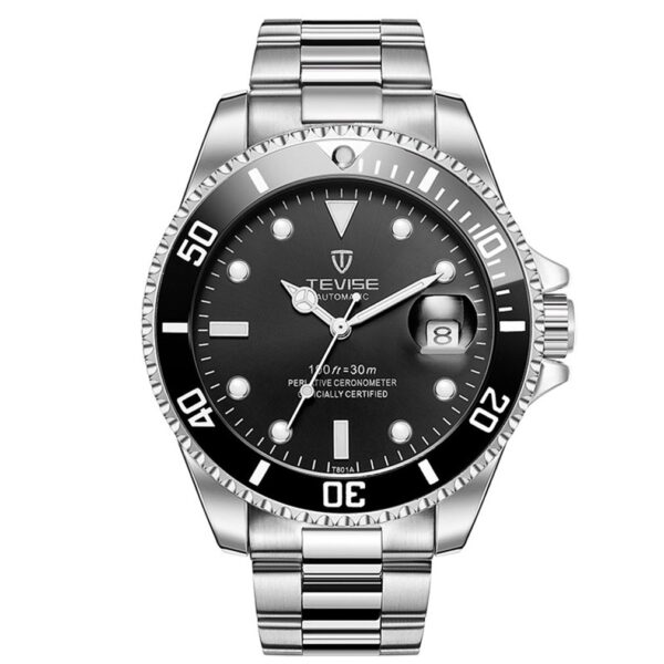 TEVISE Colorful Luminous Steel Belt With Calendar Automatic Mechanical Watch Waterproof Casual Wrist Watch For Men And Women Hot