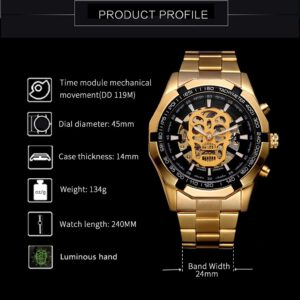 T-WINNER watch men Hollow Demon Dial automatic watch mens watches top brand luxury Design Business mechanical watch reloj