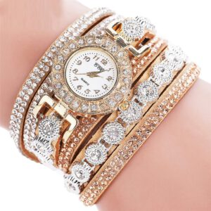 New Watch Women Bracelet Ladies Watch With Rhinestones Clock Womens Vintage Fashion Dress Wristwatch Relogio Feminino Gift
