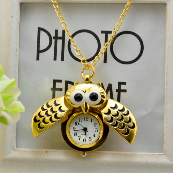 Pocket Watch Vintage Style Retro Slide Owl Pendant Long Necklace Analog Pocket Watch Gift Bundy Party Watch gift женские часы 03