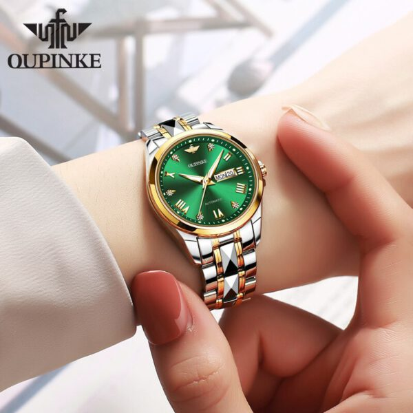 OUPINKE Luxury Brand Fashion Ladies Mechanical Automatic Self-Wind Sapphire Watch Women elegant designer crystal watches