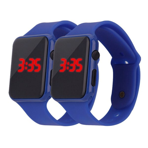 2 Pcs Unisex Digital Watch LED Electronic Watch Silicone Strap Men And Women Watch Sport Digital Watches montre homme 2020