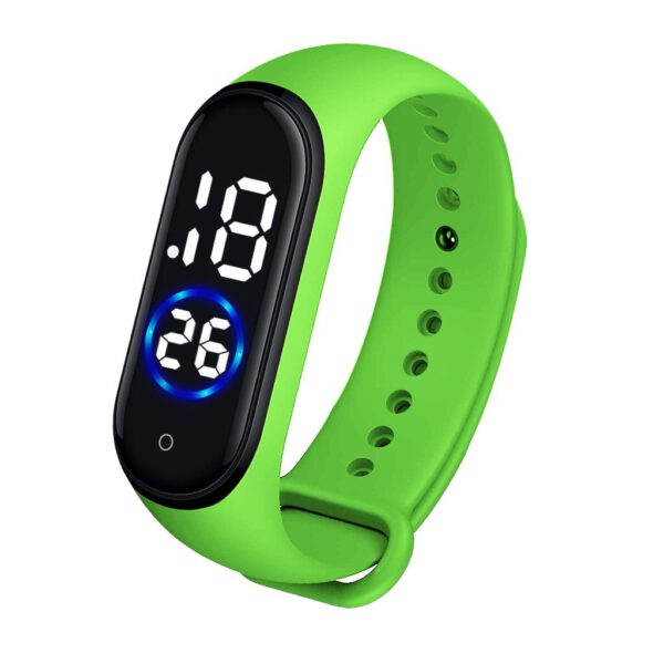 Digital watch Clock Waterproof Woman Touch Electronic Digital LED Sports Watch Unisex Silicone Band Watches reloj digital mujer